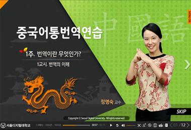 중국어통번역연습 동영상 강의 캡쳐화면